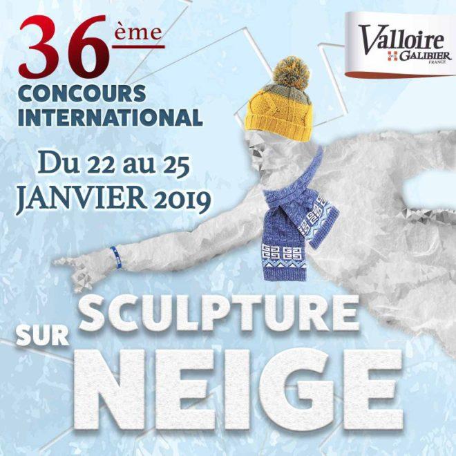36e Concours International de Sculpture sur Neige 2019. Valloire, Francia.