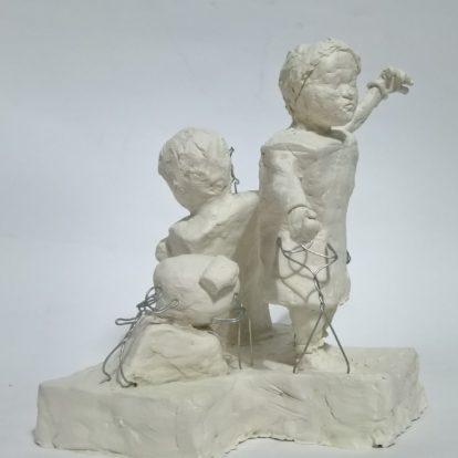 Boceto La danza de los niños: Bacha bazi/Desing The dance of children: Bacha bazi